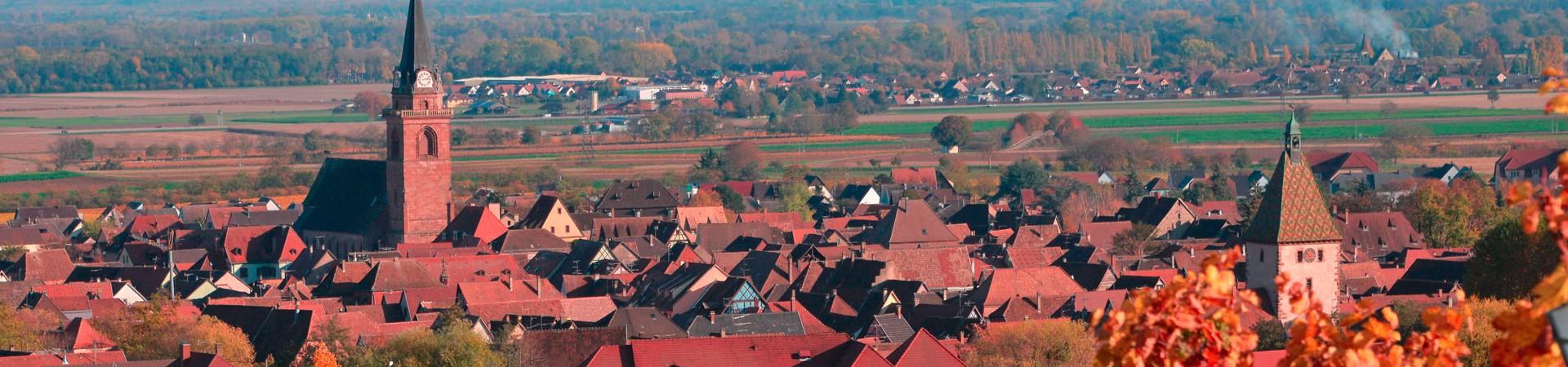 Village de Bergheim et son vignoble, sur la route des vins d'Alsace